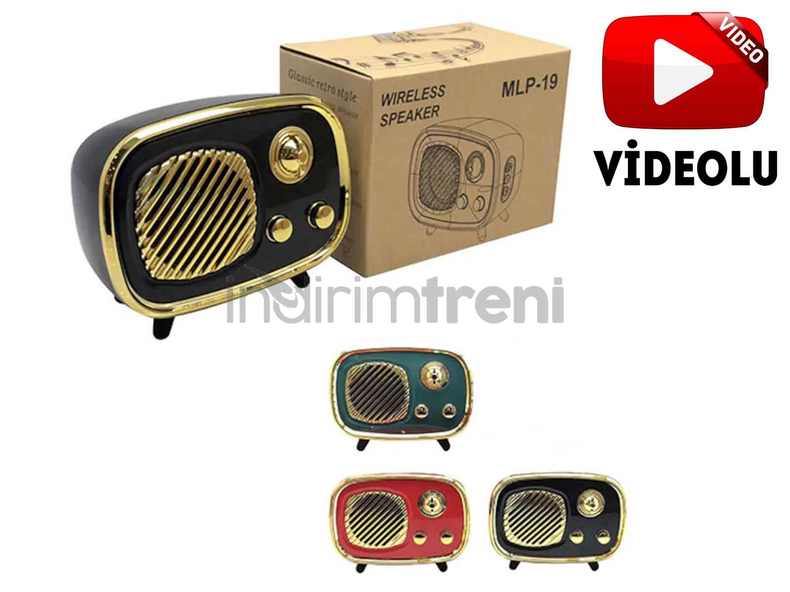 Retro Nostalji Mini Radyo Bluetooth Hoparlör